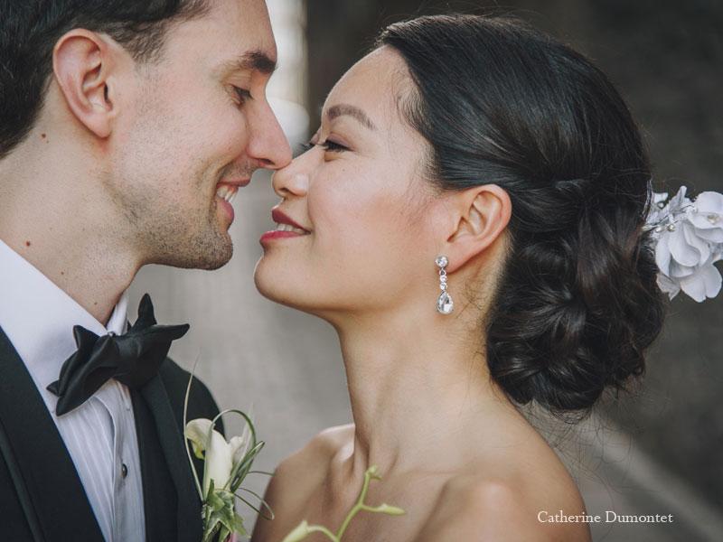close-up sur les mariés