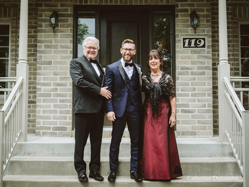le marié et ses parents à Pincourt