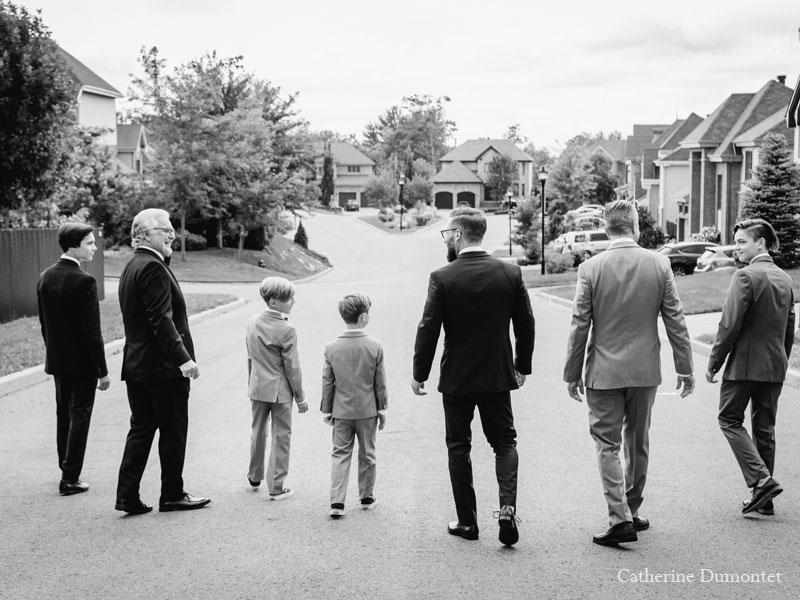 le marié et sa famille à Pincourt