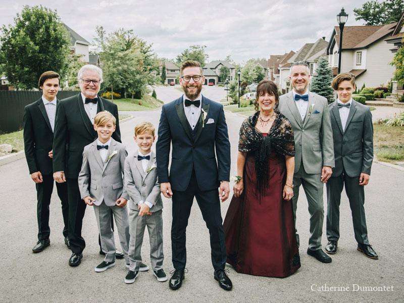 La famille du marié à Pincourt