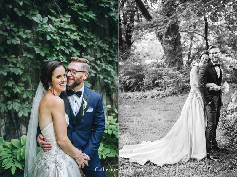 les mariés au Manoir Grant à Valleyfield