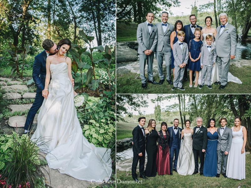 Les mariés avec familles au Manoir Grant