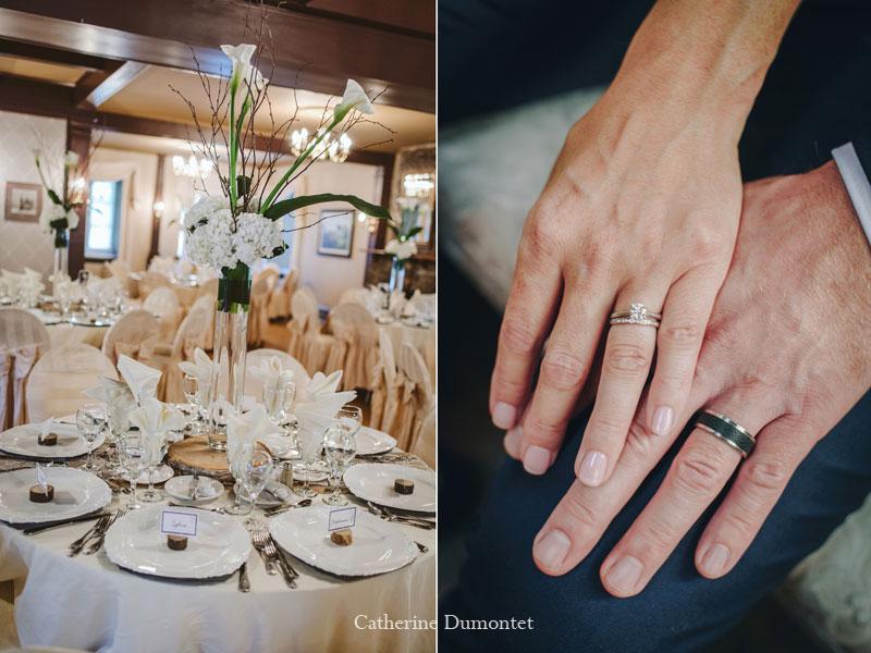 décorations mariage au Manoir Grant à Valleyfield