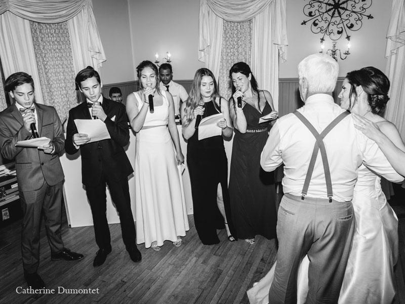 réception de mariage au Manoir Grant