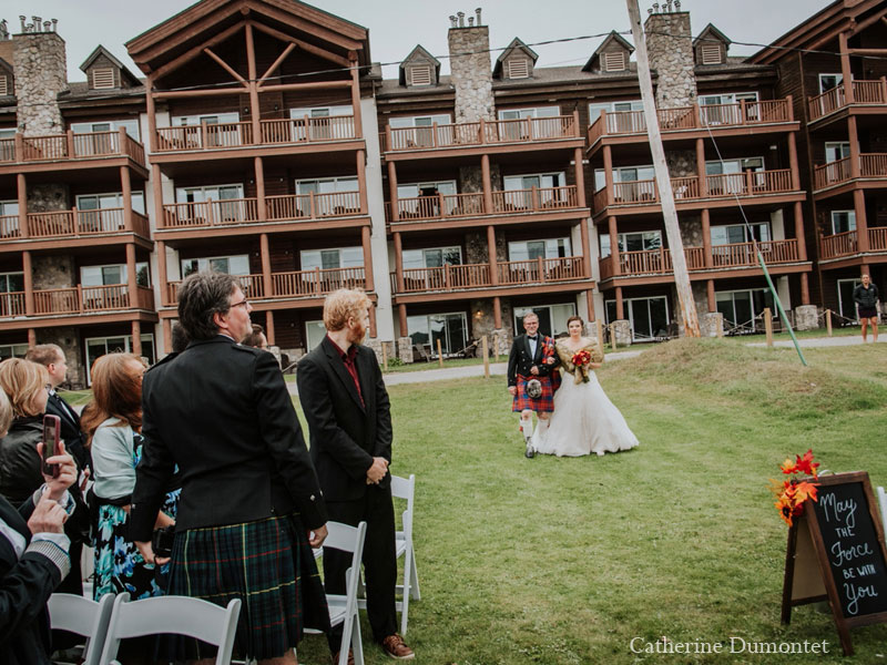 wedding ceremony at Grand Lodge Mont-Tremblant