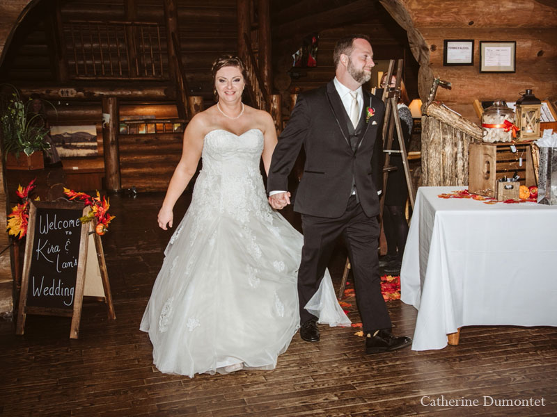 newlyweds at Grand Lodge Mont-Tremblant