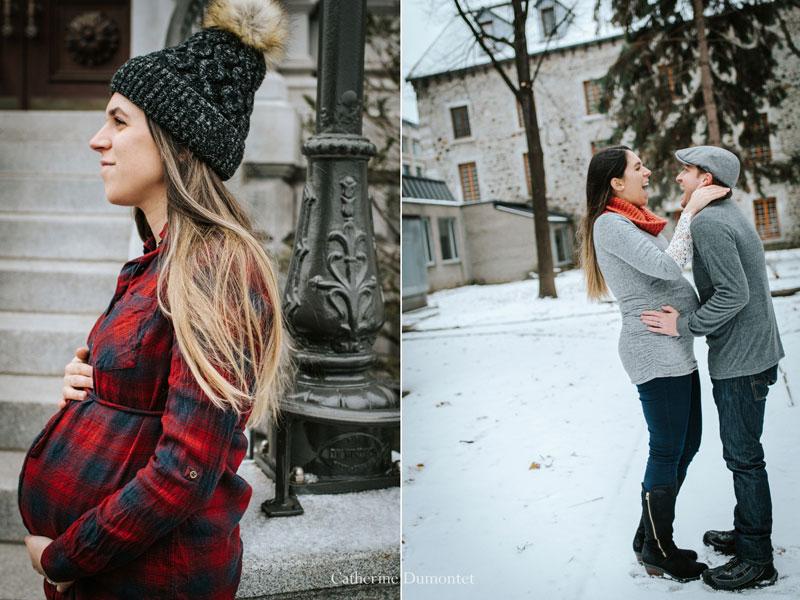 séance maternité/grossesse en hiver
