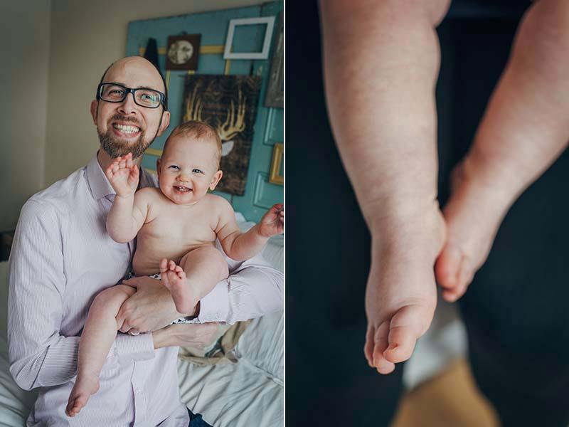 bébé Charlotte a un an
