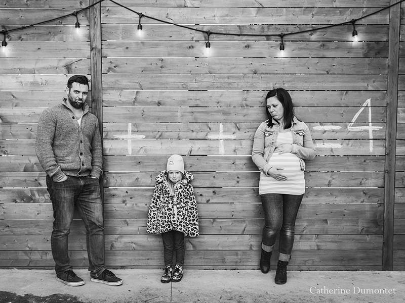 photos de famille dans un cour