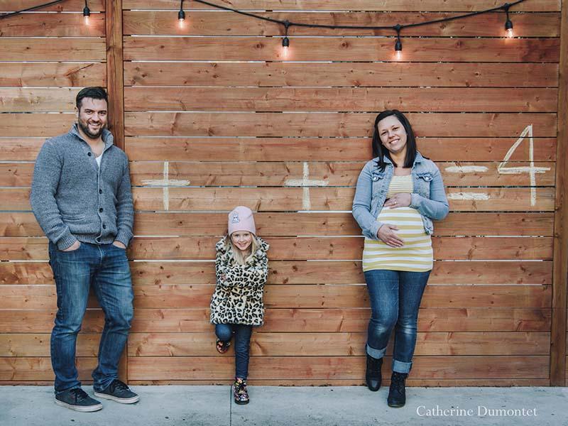 photos de famille en hiver