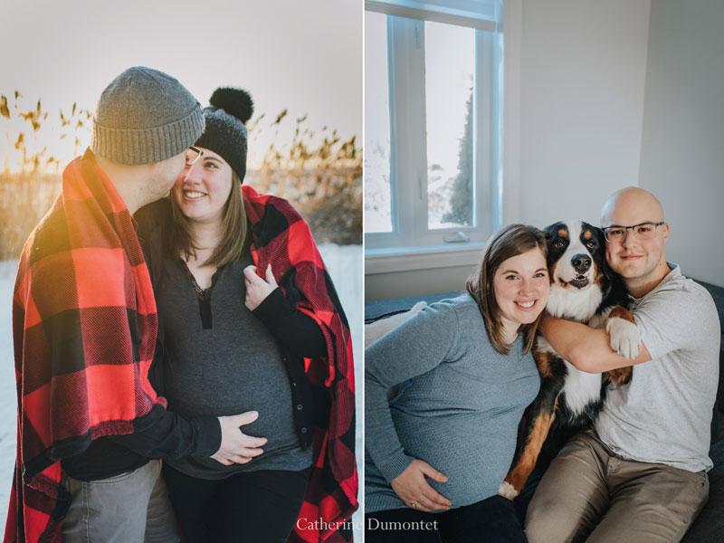 photos de maternité à l'intérieur et extérieur
