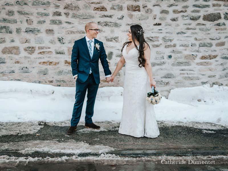 Mariage d'hiver dans le Vieux-Port de Montréal
