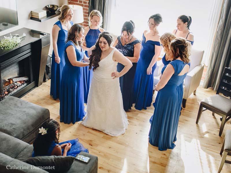 Préparation de la mariée au Lofts du Vieux-Port