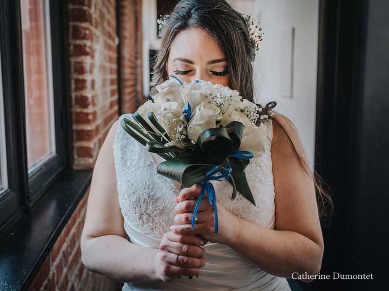 Portrait de la mariée au Lofts du Vieux-Port