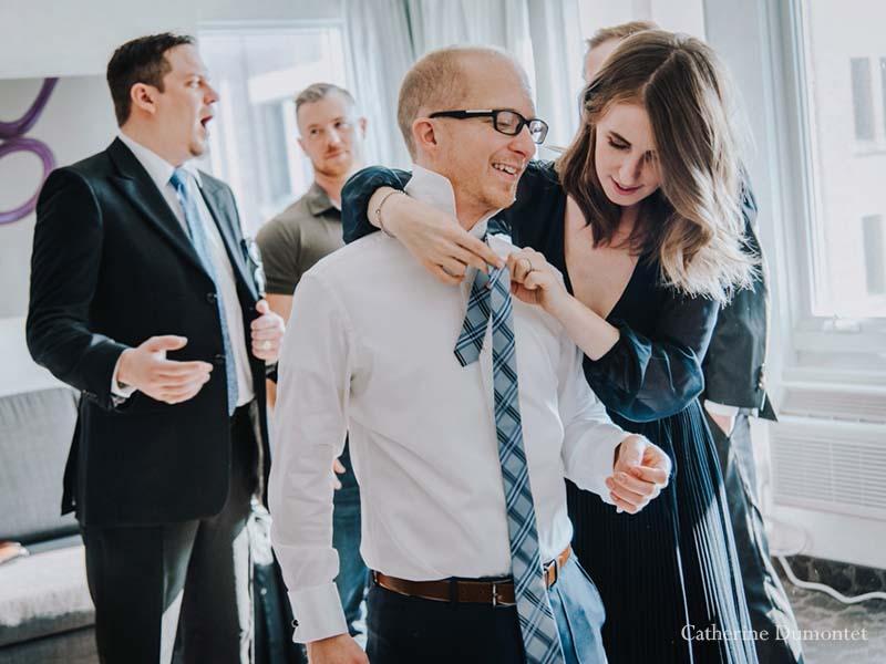 Préparation du marié au SpringHill Marriott