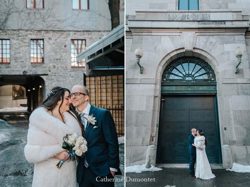 mariage en hiver dans le Vieux-Montréal