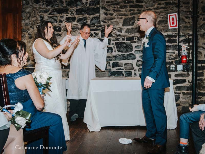 cérémonie de mariage au Vieux-Port Steakhouse