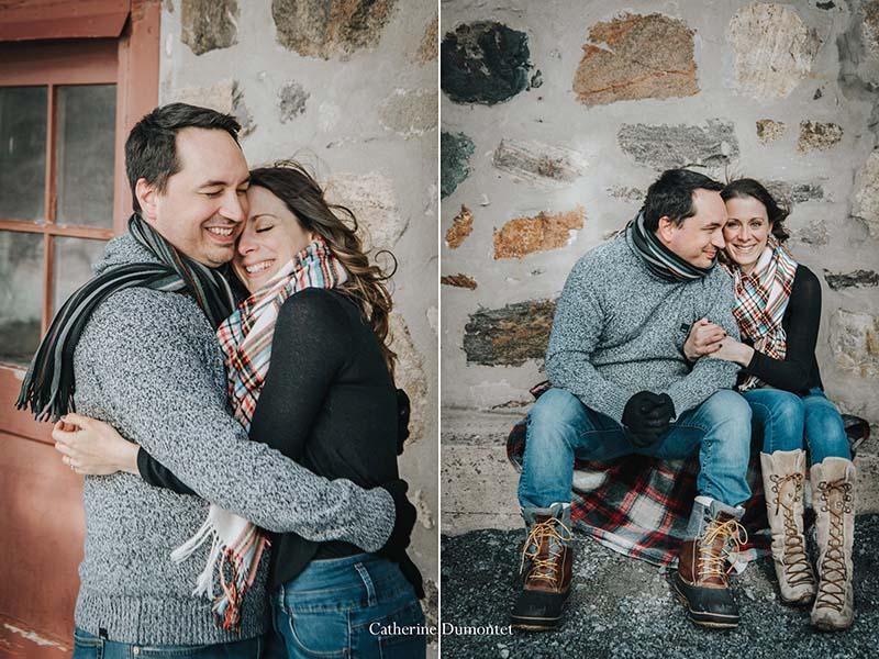 session fiançailles en hiver à Oka