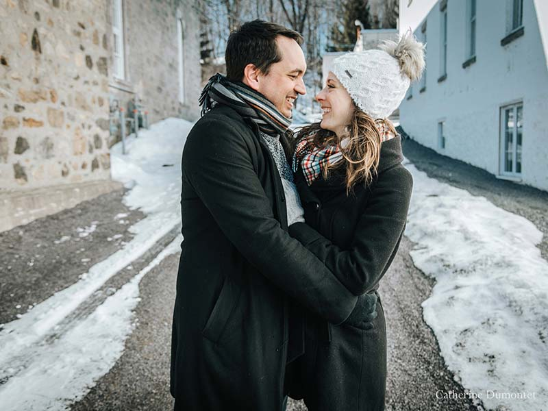 fiançailles en hiver à Oka