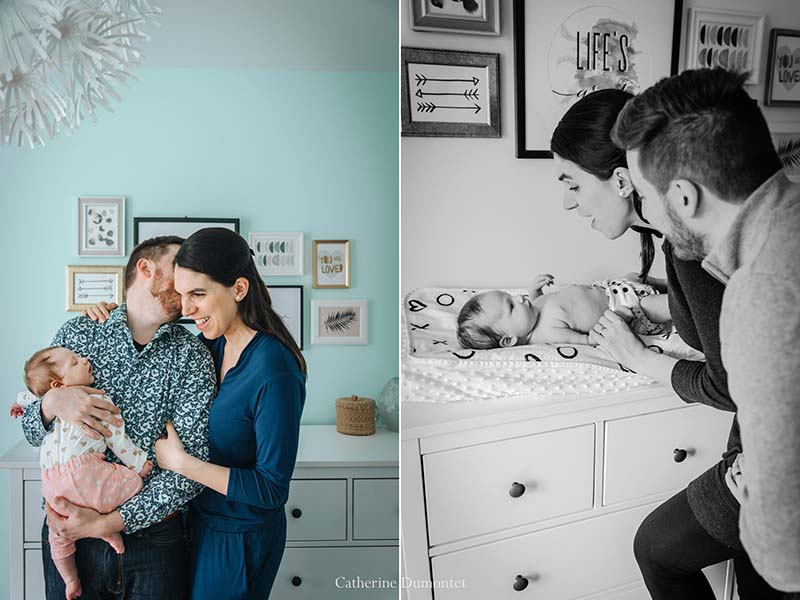 photos de bébé à la maison