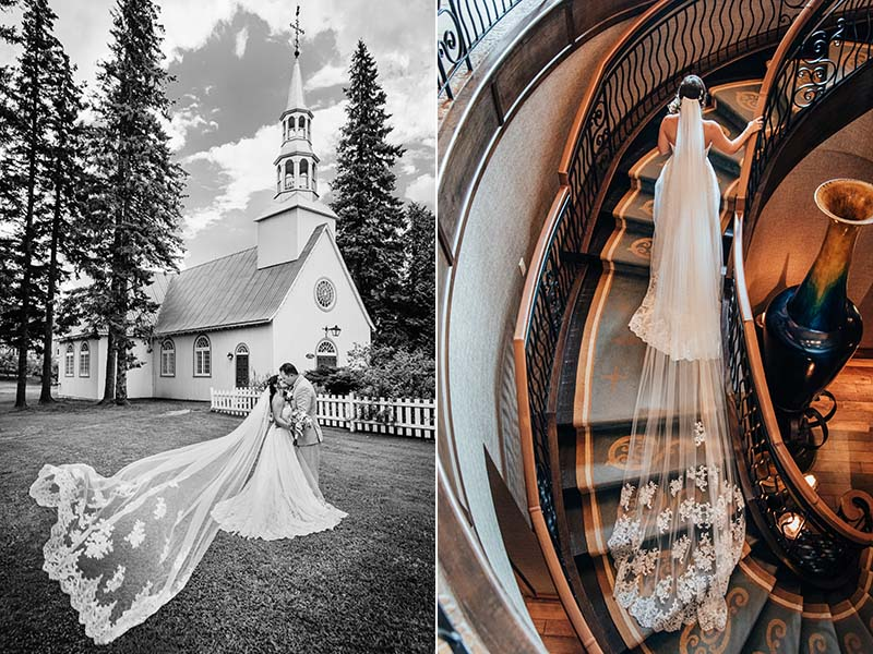 Les mariés à Mont-Tremblant et à l'Hôtel Quintessence