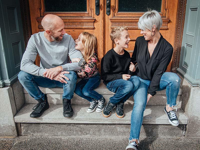 photos de famille dans le Vieux-Port de Montréal