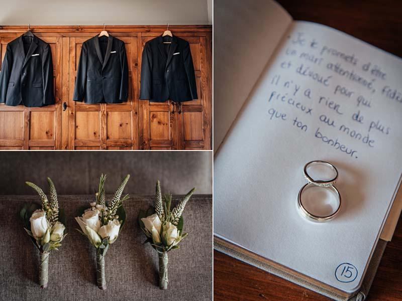 accessoires mariage au Grand Lodge Mont-Tremblant