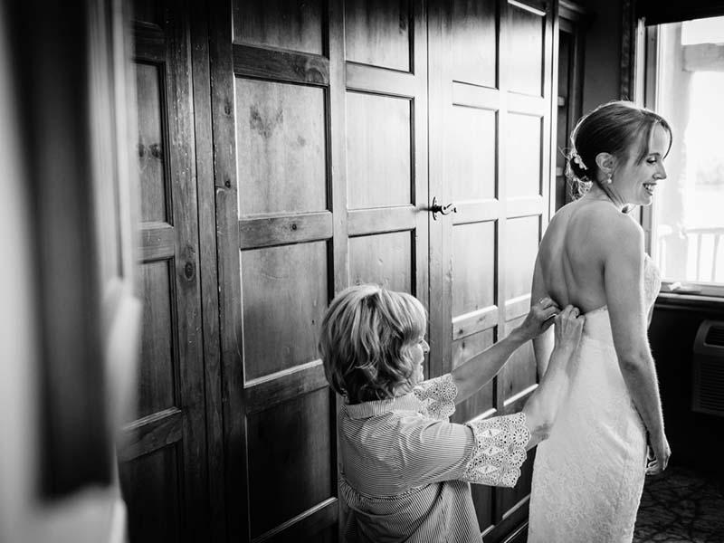 Préparation de la mariée au Grand Lodge Mont-Tremblant