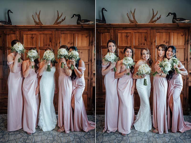 La mariée et cortège au Grand Lodge Mont-Tremblant