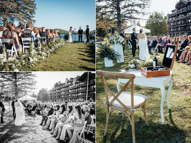 cérémonie de mariage au Grand Lodge Mont-Tremblant