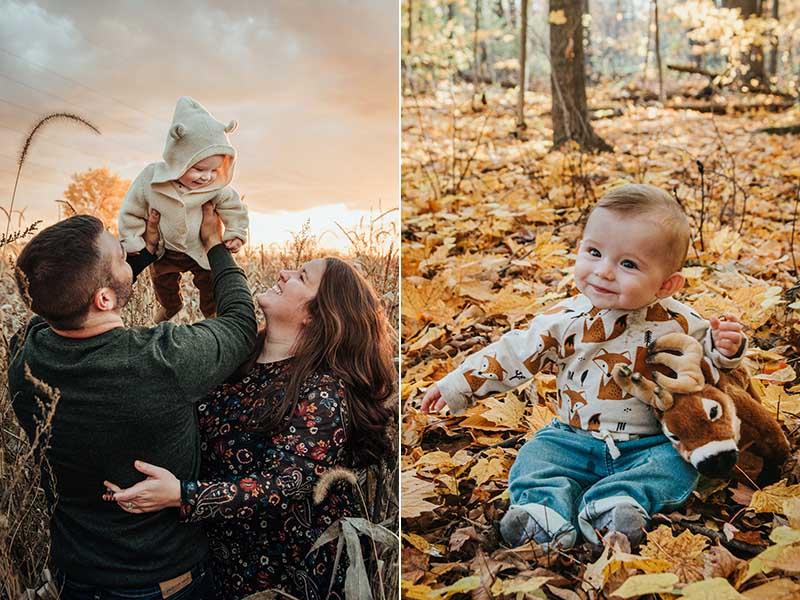 séance famille et bébé en Montérégie