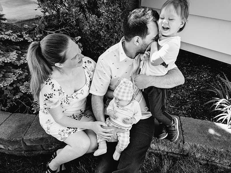séance photo famille et bébé à domicile