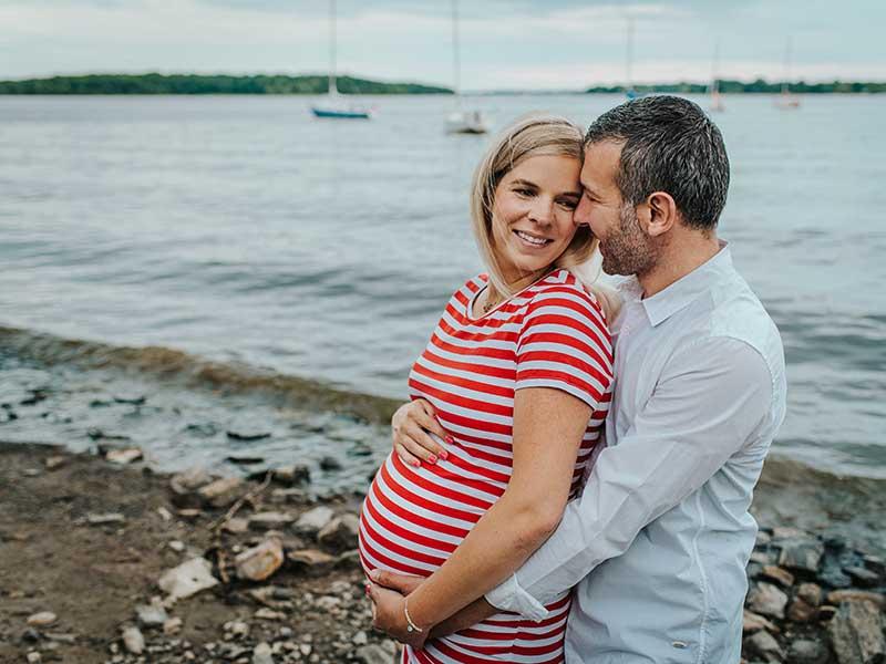 séance maternité à Baie D'Urfé